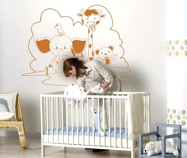 Vinilos para decoraci n infantil papel pintado infantil for Papel decorativo pared infantil
