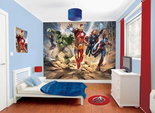 Fotomural de los Vengadores, película Marvel