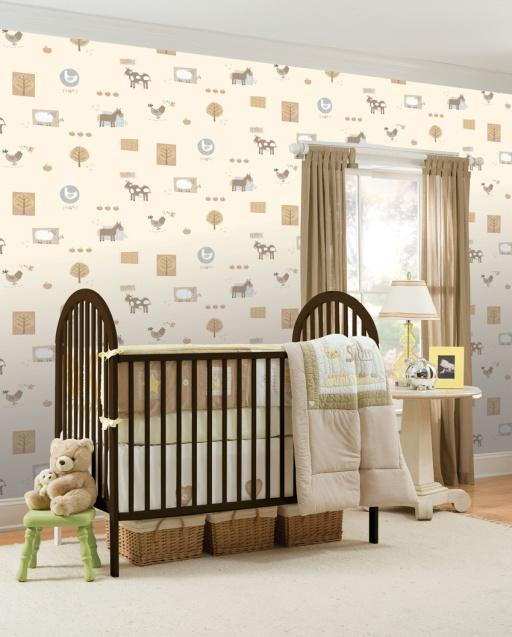 papeles pintados para bebes hoopla