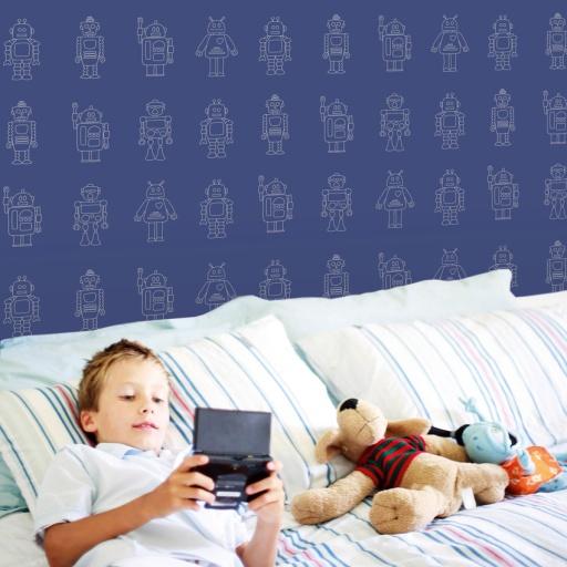 Papel Pintado Infantil Robots