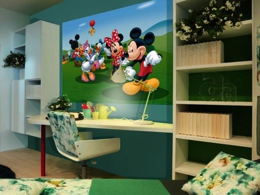 Fotomural Infantil de Papel Pintado Mickey Mouse
