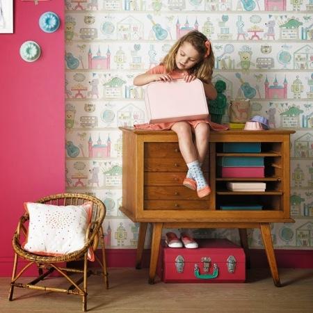 Papel Pintado Infantil Estanteria