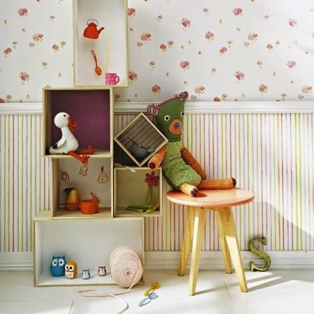 Papel Pintado Infantil Rayas Multicolor