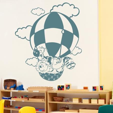 Vinilo Infantil Viaje en Globo IN152