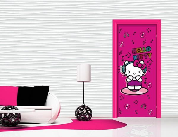 Fotomural Infantil Puerta Hello Kitty