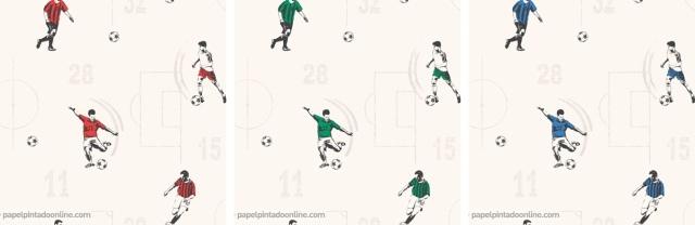 Papel Pintado Jugadores Futbol